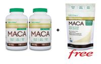 Organika Maca 750 mg, 2 x 180 Vegetable Capsules + (FREE) Maca, 400 g | NutriFarm.ca