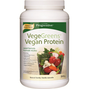 Progressive VegeGreens Vegan Protein Natural Vanilla, 840 g | NutriFarm.ca