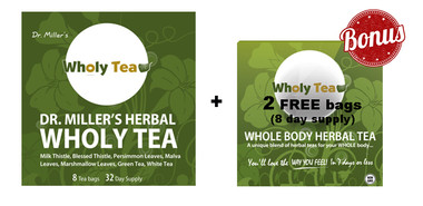 Dr. Miller's Wholy Tea, 28 g (8 bags) + 2 FREE bags (8 day supply) | NutriFarm.ca