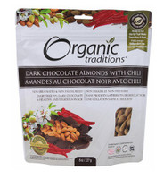 Organic Traditions Dark Chocolate with Chili, 227 g | NutriFarm.ca