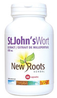 New Roots St. John's Wort Extract 450 mg, 60 Capsules | NutriFarm.ca