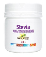 New Roots Stevia White Powder Concentrate, 30 g | NutriFarm.ca
