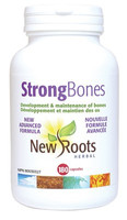 New Roots Strong Bones, 180 Capsules | NutriFarm.ca