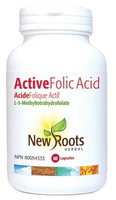 New Roots Active Folic Acid (L-5-Methyltetrahydrofolate), 60 Capsules | NutriFarm.ca