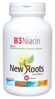 New Roots Vitamin B3 Niacin 100 mg, 90 Capsules | NutriFarm.ca
