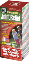 Bell Pepper cream for joint relief, 90 ml (roll-on) | NutriFarm.ca