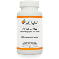 Orange Naturals Cold and Flu with Andrographis, 60 Capsules | NutriFarm.ca