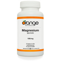 Orange Naturals Magnesium Glycinate, 60 Vegetable Capsules | NutriFarm.ca