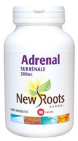 New Roots Adrenal 200 mg, 90 Capsules | NutriFarm.ca