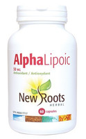 New Roots Alpha Lipoic 50 mg, 60 Capsules | NutriFarm.ca