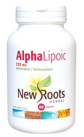 New Roots Alpha Lipoic 125 mg, 60 Capsules | NutriFarm.ca