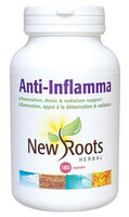 New Roots Anti-Inflamma 600 mg, 180 Capsules | NutriFarm.ca