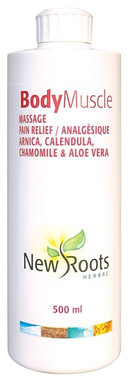 New Roots Body Muscle Massage, 500 ml | NutriFarm.ca
