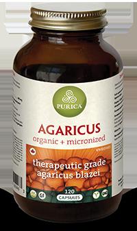 Purica Agaricus, 120 Veg Caps | NutriFarm.ca