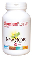 New Roots Chromium Picolinate 500 mcg, 100 Capsules | NutriFarm.ca
