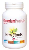 New Roots Chromium Picolinate 500 mcg, 100 Capsules | NutriFarm.ca