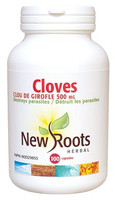 New Roots Cloves 500 mg, 100 Capsules | NutriFarm.ca