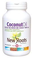 New Roots Coconut Oil Extra Virgin 1000 mg, 90 Softgels | NutriFarm.ca
