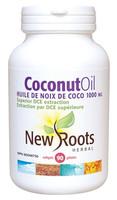 New Roots Coconut Oil Extra Virgin 1000 mg, 90 Softgels | NutriFarm.ca