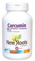 New Roots Curcumin 500 mg, 90 Capsules | NutriFarm.ca