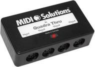MIDI Solutions 1 in 4 out MIDI Quadra Thru Box
