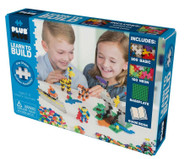 Plus Plus Learn to Build Basic Includes 400pcs Baseplate & Guide Book