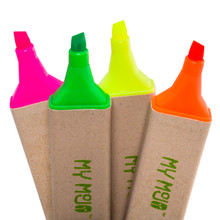 4 Pack Recycled Highlighters