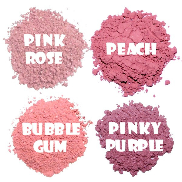 Blushes: Natural & Non-toxic Play Makeup Kit for kids. This set comes with 4 naturally pigmented blushes. DYE-Free ~ Paraben Free