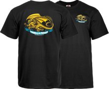 Powell Peralta - / P Oval Dragon Ss L - Black - Skateboard T-Shirt