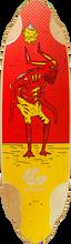"""Comet - Voodoo D2 36"""" Red / Yel Deck - 10.25x36 - Longboard Deck"""