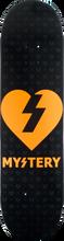 Mystery - Heart Color Deck-8.37 Blk/org - Skateboard Deck
