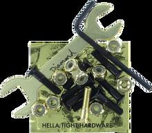 "Diamond - P.rod 7/8"" Allen Blk/gold Hardware"