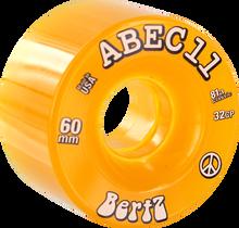 Abec 11 - Bertz 60mm 81a Clr Amber - Skateboard Wheels (Set of Four)