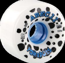 Abec 11 - Polka Dots 64mm 81a Wht/blue - Skateboard Wheels (Set of Four)