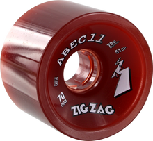 Abec 11 - Zigzags 70mm 78a Red - Skateboard Wheels (Set of Four)