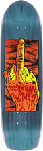 American - Nomad One Finger Salute Deck - 9x33 Blue - Skateboard Deck