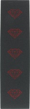 Diamond - Brilliant Blk/red Grip 1sheet - Skateboard Grip Tape