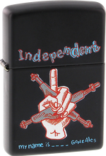 Independent - My Name Is Gonzales Zippo Lighter Matte Blk