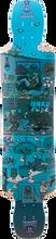 Kebbek - Twinkix Skatehouse Deck - 9.73x43 Blue - Longboard Deck
