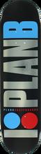Plan B - B Og Foil Deck - 8.0 Blk/sil/blu/red - Skateboard Deck
