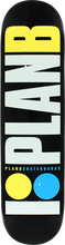Plan B - B Og Neon Deck - 7.75 Blk/wht/yel/blu - Skateboard Deck