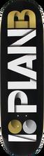 Plan B - B Overlap Deck - 8.75 Blk/wht/gold - Skateboard Deck