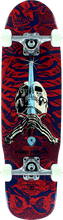 Powell Peralta - Mini Skull & Sword 6 Complete - 8x30 Navy/red - Complete Skateboard