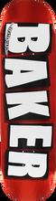 Baker - Brand Logo Foil Deck - 8.0 Red - Skateboard Deck