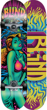 Blind - Blacklight Girl Complete-7.7 Teal Ppp (Complete Skateboard)