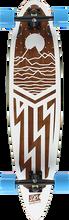 Db Longboards - Cascade Complete-9x38 Wht/brn/nat (Complete Skateboard)