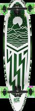 Db Longboards - Cascade Complete-9x38 Evergreen Wht/grn (Complete Skateboard)