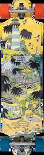 """Duster - Daze Complete-38"""" Org/blue (Complete Skateboard)"""