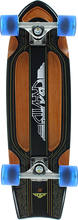 Gravity - Routered Bat Tail Complete-8.12x28 Blk/brn (Complete Skateboard)