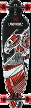 Landyachtz - Battle Axe 40 Thunderbird Complete-9x40.25 Red (Complete Skateboard)